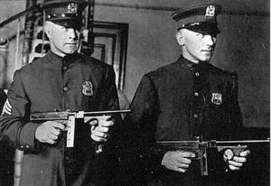 """Militarized"" Police And Their Military Automatic Weapons, Circa 1920"